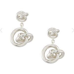 Kendra Scott Love Knot Drop Earrings Silver
